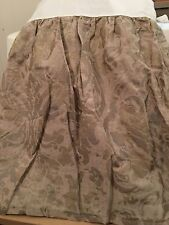 """WEST POINT HOME QUEEN GOLD SILVER KHAKI Tailored Bed Skirt Dust Ruffle 15"""" Drop"""
