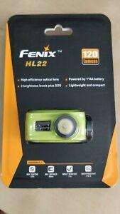 Fenix HL22 120 Lumens - Green - LED Headlamp - 1x AA