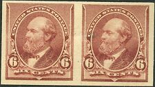 #224Pa ON STAMP PAIR XF NH WITH TINY INCLUSION RIGHT STAMP BN4813