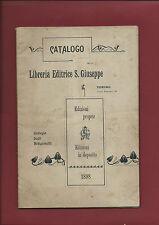 Catalogo Libreria Editrice S. Giuseppe Collegio degli Artigianelli Torino 1898