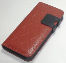 Flip Kickstand Leather Case With Front Back Screen Protector For Apple iPhone 5