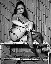 "Vintage 1950s 10"" x 8"" re-print Photograph of Burlesque Pin-up Star Mara Gaye"