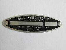1946 1947 1948 1949 1950 Ford Dura ID Oval Tag Data Plate for top or window pump