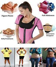 0c484e50aa UK Women Neoprene Sauna Sweat Waist Trainer Vest With Zipper For Weight Loss  Gym