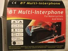 2× BT Interphone bluetooth motorcycle multi helmet intercom headset 500m