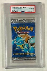 1999 Pokemon Blastoise Cover Base Foil Pack Unopened WOTC PSA 10 GEM MINT