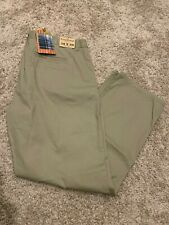 30x32, Olive Tailor Vintage Mens Flat Front Pant