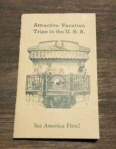 1936 NORTHERN PACIFIC RAILWAY ATTRACTIVE VACATION TRIPS USA BROCHURE FOLDER RARE
