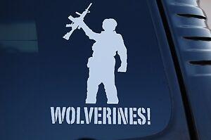 Wolverines Vinyl Sticker Decal Red Dawn Movie Car Window Laptop Pick Size (V448)