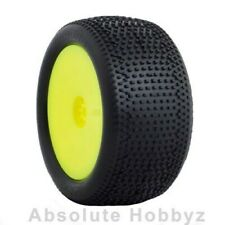 AKA Racing 1:10 Buggy Impact Rear (S. Soft) Hexlite Wheel Mntd Yellow