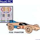 Pinecar 332 Custom Parts w/Decals Phantom