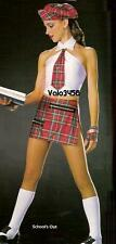 School's Out Dance Costume School Girl Tap Skirt,Top and Socks Adult X-Large
