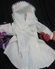 ANTIQUE Victorian Edwardian CHILD toddler COAT Jacket DRESS cotton LACE dolls