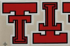 TEXAS TECH RED RAIDERS NCAA Football Helmet Decals / Stickers