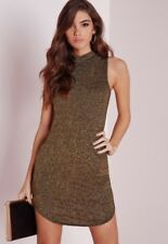 Missguided gold bodycon dress