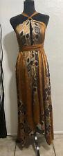 Brown Satin Convertible Dress Wear Multi Different Ways OSFA Festival