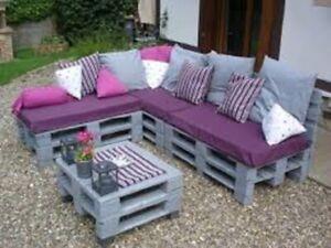 Pallet Seating Garden Outdoor Furniture DIY Trendy Cushions HD Cut to Size Foam
