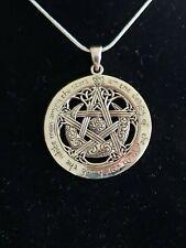 "925 Sterling Silver Celtic  Moon Star Pendant Includes 20"" Italian Box Chain"