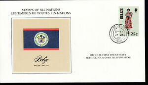 1988 BELIZE 25C STAMPS OF ALL NATIONS FIRST DAY COVER VF