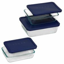 Pyrex rectangular glass storage 6PC set food container paypal crazy sale