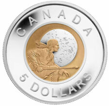 2011 CANADA $5 FULL HUNTER'S MOON NIOBIUM AND SILVER