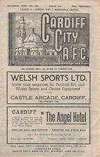 Cardiff City v Newcastle United 10/4/1948