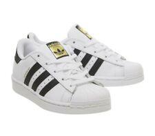 Adidas Originals Superstar Scarpe Sportive Bianco Nero Bambini Bambine Taglia UK