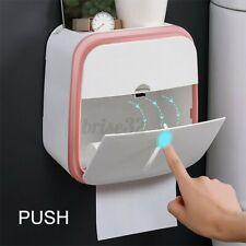 Waterproof Wall Mounted Toilet Paper Dispenser Holder Bath Tissue Storage