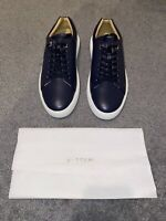 Men's Buscemi Uno Low Alce Sneakers - Oceano Navy - Size 45