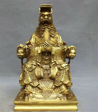 China Myth legend Brass Copper Longwang dragon King Lord Rain God buddha statue