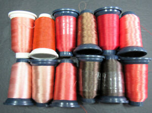 12xMachine Sewing THREAD FLORIANI Embroidery polyester 1000m spool-mixed-ZZ362