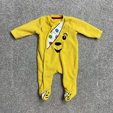 Asda George Pudsey Bear Babygrow Children In Need Outfit Age 0-3 Months Unisex