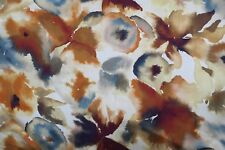 "Harlequin Curtain Fabric Design ""flores"" 3 Metres Rust Ruby Nordic Blue"