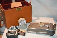 vintage antique POLAROID Model 800 LAND CAMERA brown leather case Shutter Wink