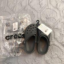 Crocs Classic Neon Gray Clogs Shoes Children's Size 13 Water Proof Unisex