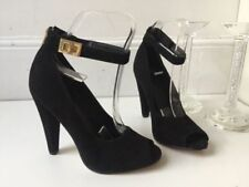Topshop Patternless Suede Court Heels for Women