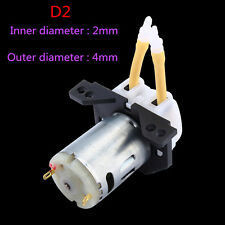 Adjustable Dc12v Dosing Pump Peristaltic Head Aquarium Lab Analytical Liquid ZY D2 2*4mm