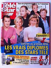 TELE STAR du 27/10/2008; Les secret de James Bond/ Diplomes des stars télé