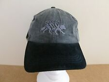 ARCTIC FOX STONEWASH CHARCOAL SOFT BASEBALL CAP. BLACK SUEDE LOOK PEAK.ONE SIZE