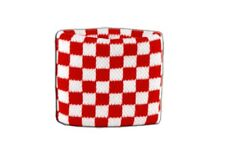 Schweißband Fahne Flagge Karo Rot-Weiß 7x8cm Armband für Sport