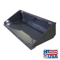 NEW 72 INCH LONG BOTTOM DIRT BUCKET FOR SKID STEER/BOBCAT/KUBOTA/ETC
