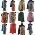 wholesale lot of 20 thick pashmina scarf shawl peacock paisley butterfly floral