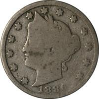 1886 Liberty V Nickel AG Key Date
