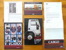 FORD CARGO RANGE BROCHURE 1981 with Colour Guide and Leisure Wear leaflets