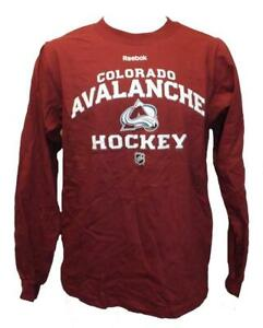 New Colorado Avalanche Mens Size S Small Long Sleeve Reebok Shirt