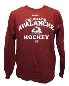 New Colorado Avalanche Mens Size S Small Long Sleeve Reebok Shirt
