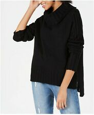 Hooked Up By Iot Black Drop Shoulder Sweater Small $44