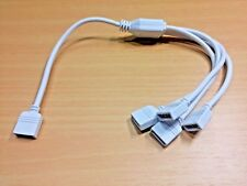 De 1 a 4 Vías Splitter RGB LED Tira/Cable Conector (4 Pin - 290mm)