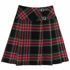 Wool Checked Casual Skirts for Women