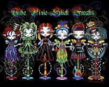 Rainbow Fairy Circus Big Eyed Dolls Pixie Stick Freaks Myka Jelina Signed Print